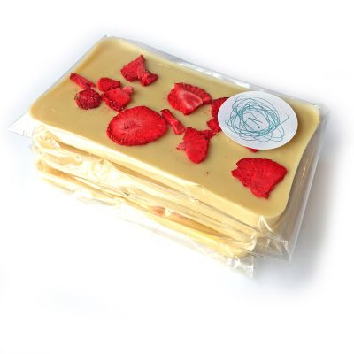 Nenette Chocolates Strawberry White Chocolate Bar