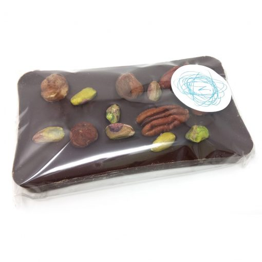 dark chocolate with mixed nuts