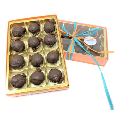 boxed truffles rum and raisin